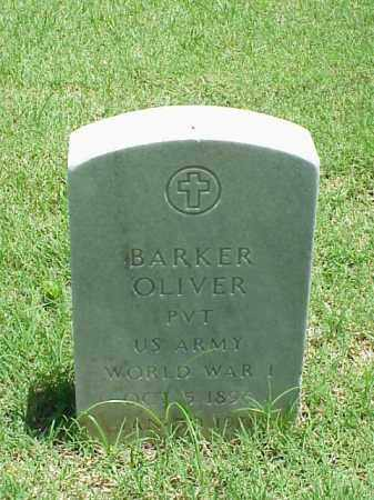 OLIVER (VETERAN WWI), BARKER - Pulaski County, Arkansas | BARKER OLIVER (VETERAN WWI) - Arkansas Gravestone Photos