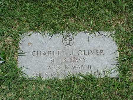 OLIVER (VETERAN WWII), CHARLEY - Pulaski County, Arkansas | CHARLEY OLIVER (VETERAN WWII) - Arkansas Gravestone Photos