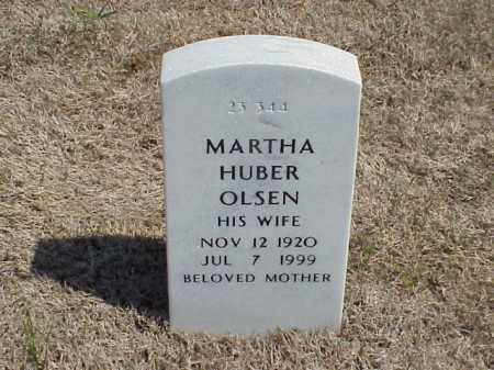 HUBER OLSEN, MARTHA - Pulaski County, Arkansas | MARTHA HUBER OLSEN - Arkansas Gravestone Photos