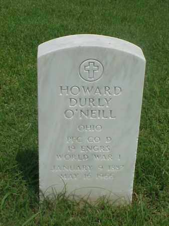 O'NEILL (VETERAN WWI), HOWARD DURLY - Pulaski County, Arkansas | HOWARD DURLY O'NEILL (VETERAN WWI) - Arkansas Gravestone Photos