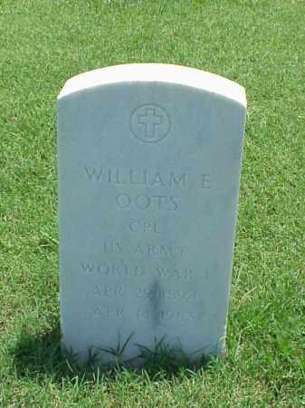 OOTS (VETERAN WWI), WILLIAM E - Pulaski County, Arkansas | WILLIAM E OOTS (VETERAN WWI) - Arkansas Gravestone Photos