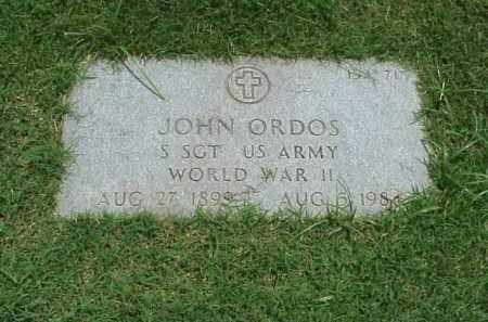 ORDOS (VETERAN WWII), JOHN - Pulaski County, Arkansas | JOHN ORDOS (VETERAN WWII) - Arkansas Gravestone Photos