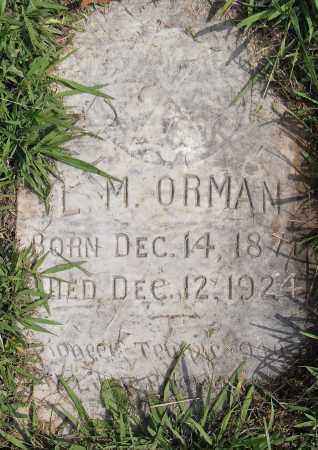 ORMAN, L M - Pulaski County, Arkansas | L M ORMAN - Arkansas Gravestone Photos
