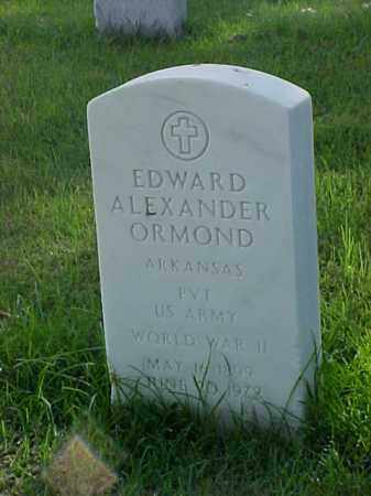 ORMOND (VETERAN WWII), EDWARD ALEXANDER - Pulaski County, Arkansas | EDWARD ALEXANDER ORMOND (VETERAN WWII) - Arkansas Gravestone Photos