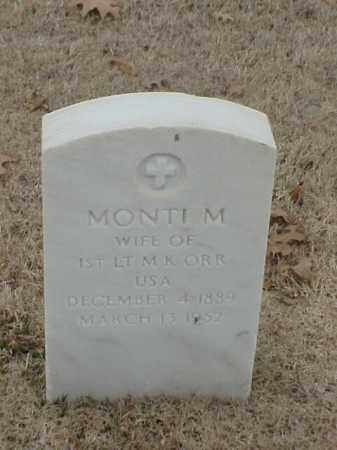 ORR, MONTI M - Pulaski County, Arkansas | MONTI M ORR - Arkansas Gravestone Photos