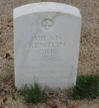 ORR (VETERAN WWI), MILAN KENTON - Pulaski County, Arkansas | MILAN KENTON ORR (VETERAN WWI) - Arkansas Gravestone Photos