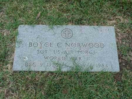 NORWOOD (VETERAN WWII), BOYCE C - Pulaski County, Arkansas | BOYCE C NORWOOD (VETERAN WWII) - Arkansas Gravestone Photos