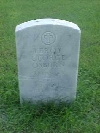 OSBURN (VETERAN WWII), LEROY GEORGE - Pulaski County, Arkansas | LEROY GEORGE OSBURN (VETERAN WWII) - Arkansas Gravestone Photos