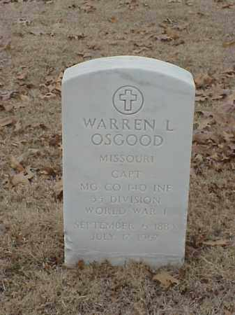 OSGOOD (VETERAN 2 WARS), WARREN L - Pulaski County, Arkansas | WARREN L OSGOOD (VETERAN 2 WARS) - Arkansas Gravestone Photos