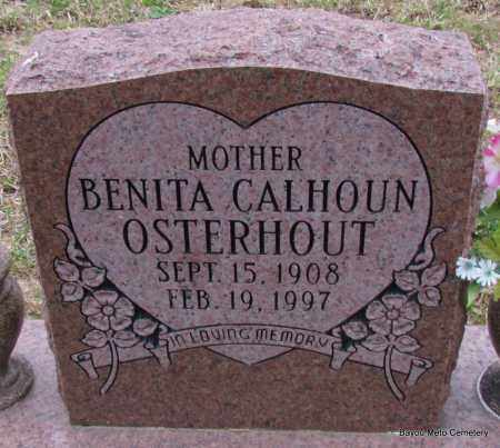 CALHOUN OSTERHOUT, BENITA - Pulaski County, Arkansas | BENITA CALHOUN OSTERHOUT - Arkansas Gravestone Photos