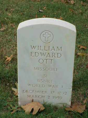OTT (VETERAN WWI), WILLIAM EDWARD - Pulaski County, Arkansas | WILLIAM EDWARD OTT (VETERAN WWI) - Arkansas Gravestone Photos