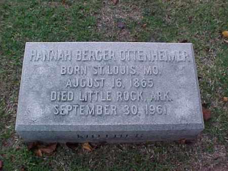 OTTENHEIMER, HANNAH - Pulaski County, Arkansas | HANNAH OTTENHEIMER - Arkansas Gravestone Photos
