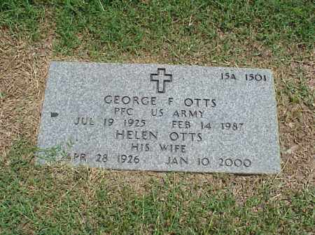 OTTS (VETERAN WWII), GEORGE F - Pulaski County, Arkansas | GEORGE F OTTS (VETERAN WWII) - Arkansas Gravestone Photos