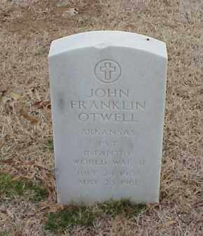 OTWELL  (VETERAN WWII), JOHN FRANKLIN - Pulaski County, Arkansas | JOHN FRANKLIN OTWELL  (VETERAN WWII) - Arkansas Gravestone Photos