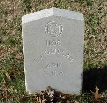 OUTLAW (VETERAN CSA), T J - Pulaski County, Arkansas | T J OUTLAW (VETERAN CSA) - Arkansas Gravestone Photos