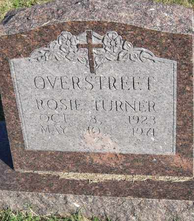 TURNER OVERSTREET, ROSIE - Pulaski County, Arkansas | ROSIE TURNER OVERSTREET - Arkansas Gravestone Photos