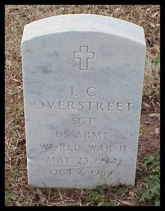 OVERSTREET (VETERAN WWII), L C - Pulaski County, Arkansas | L C OVERSTREET (VETERAN WWII) - Arkansas Gravestone Photos