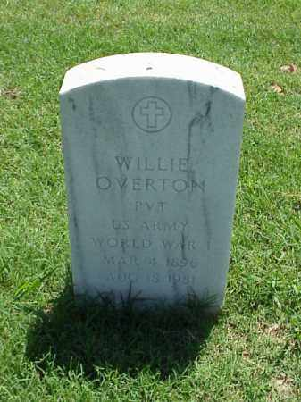OVERTON (VETERAN WWI), WILLIE - Pulaski County, Arkansas | WILLIE OVERTON (VETERAN WWI) - Arkansas Gravestone Photos