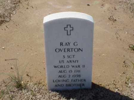 OVERTON (VETERAN WWII), RAY G - Pulaski County, Arkansas | RAY G OVERTON (VETERAN WWII) - Arkansas Gravestone Photos