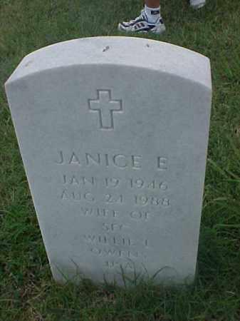 OWENS, JANICE E - Pulaski County, Arkansas | JANICE E OWENS - Arkansas Gravestone Photos