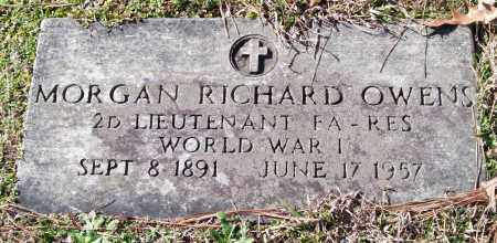 OWENS (VETERAN WWI), MORGAN RICHARD - Pulaski County, Arkansas | MORGAN RICHARD OWENS (VETERAN WWI) - Arkansas Gravestone Photos