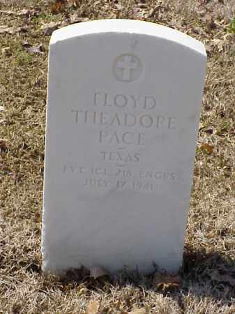 PACE (VETERAN WWI), FLOYD THEADORE - Pulaski County, Arkansas | FLOYD THEADORE PACE (VETERAN WWI) - Arkansas Gravestone Photos