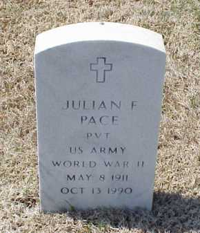 PACE (VETERAN WWII), JULIAN F - Pulaski County, Arkansas | JULIAN F PACE (VETERAN WWII) - Arkansas Gravestone Photos