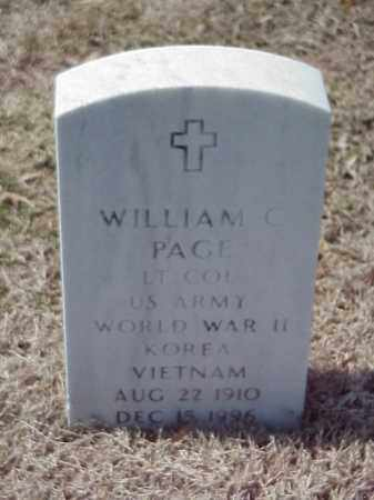 PAGE (VETERAN 2 WARS), WILLIAM C - Pulaski County, Arkansas | WILLIAM C PAGE (VETERAN 2 WARS) - Arkansas Gravestone Photos