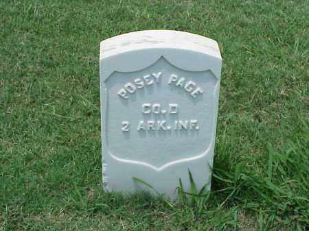 PAGE (VETERAN UNION), POSEY - Pulaski County, Arkansas | POSEY PAGE (VETERAN UNION) - Arkansas Gravestone Photos