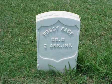 PAGE (VETERAN UNION), POSEY - Pulaski County, Arkansas | POSEY PAGE (VETERAN UNION) - Arkansas Gravestone Photos