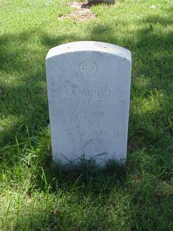 PAGE (VETERAN WWII), ELMER J - Pulaski County, Arkansas | ELMER J PAGE (VETERAN WWII) - Arkansas Gravestone Photos