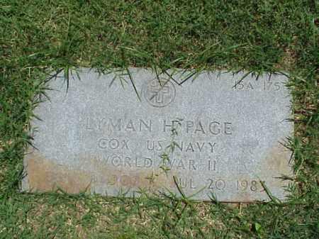 PAGE (VETERAN WWII), LYMAN H - Pulaski County, Arkansas | LYMAN H PAGE (VETERAN WWII) - Arkansas Gravestone Photos