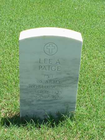 PAIGE (VETERAN WWII), LEE A - Pulaski County, Arkansas | LEE A PAIGE (VETERAN WWII) - Arkansas Gravestone Photos