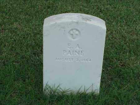 PAINE (VETERAN UNION), E A - Pulaski County, Arkansas | E A PAINE (VETERAN UNION) - Arkansas Gravestone Photos