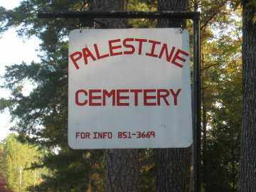*PALESTINE CEMETERY, SIGN - Pulaski County, Arkansas | SIGN *PALESTINE CEMETERY - Arkansas Gravestone Photos