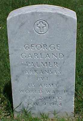 PALMER (VETERAN WWII), GEORGE GARLAND - Pulaski County, Arkansas | GEORGE GARLAND PALMER (VETERAN WWII) - Arkansas Gravestone Photos
