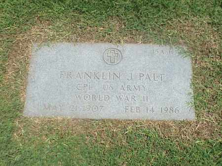 PALT (VETERAN WWII), FRANKLIN J - Pulaski County, Arkansas | FRANKLIN J PALT (VETERAN WWII) - Arkansas Gravestone Photos