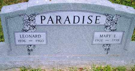 PARADISE, MARY  L. - Pulaski County, Arkansas | MARY  L. PARADISE - Arkansas Gravestone Photos