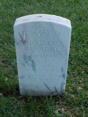 PARADISE (VETERAN WWII), THEODORE - Pulaski County, Arkansas | THEODORE PARADISE (VETERAN WWII) - Arkansas Gravestone Photos