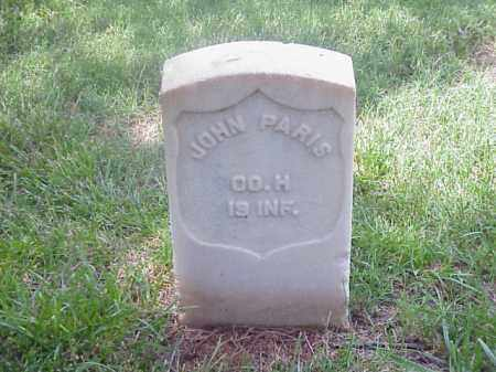 PARIS (VETERAN UNION), JOHN - Pulaski County, Arkansas | JOHN PARIS (VETERAN UNION) - Arkansas Gravestone Photos