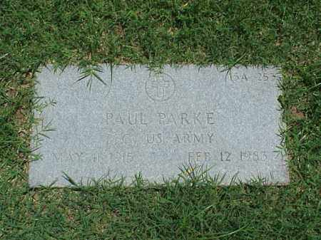 PARKE (VETERAN), PAUL - Pulaski County, Arkansas | PAUL PARKE (VETERAN) - Arkansas Gravestone Photos