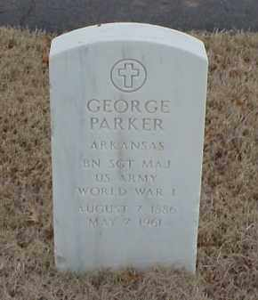 PARKER  (VETERAN WWI), GEORGE - Pulaski County, Arkansas | GEORGE PARKER  (VETERAN WWI) - Arkansas Gravestone Photos