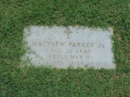 PARKER, JR (VETERAN WWII), MATTHEW - Pulaski County, Arkansas | MATTHEW PARKER, JR (VETERAN WWII) - Arkansas Gravestone Photos