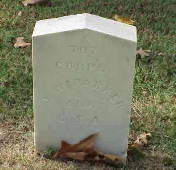 PARKER (VETERAN CSA), J W - Pulaski County, Arkansas | J W PARKER (VETERAN CSA) - Arkansas Gravestone Photos