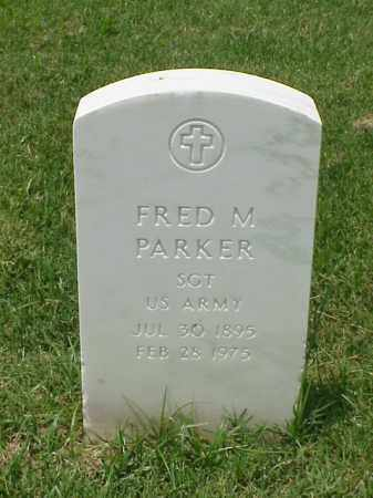 PARKER (VETERAN WWI), FRED M - Pulaski County, Arkansas | FRED M PARKER (VETERAN WWI) - Arkansas Gravestone Photos