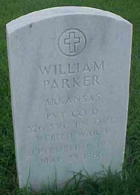 PARKER (VETERAN WWI), WILLIAM - Pulaski County, Arkansas | WILLIAM PARKER (VETERAN WWI) - Arkansas Gravestone Photos
