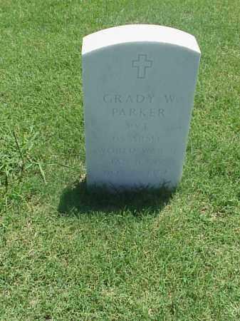 PARKER (VETERAN WWII), GRADY W - Pulaski County, Arkansas | GRADY W PARKER (VETERAN WWII) - Arkansas Gravestone Photos