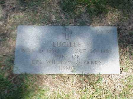 PARKS, LUCILLE - Pulaski County, Arkansas | LUCILLE PARKS - Arkansas Gravestone Photos