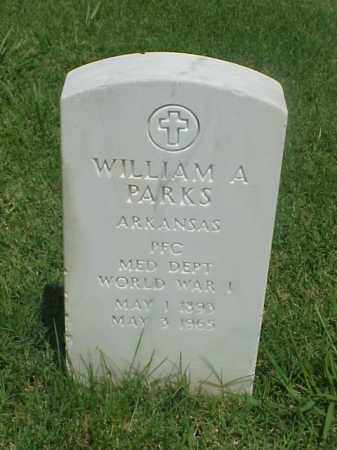 PARKS (VETERAN WWI), WILLIAM A - Pulaski County, Arkansas | WILLIAM A PARKS (VETERAN WWI) - Arkansas Gravestone Photos