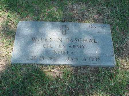 PASCHAL (VETERAN KOR), WILEY N - Pulaski County, Arkansas | WILEY N PASCHAL (VETERAN KOR) - Arkansas Gravestone Photos